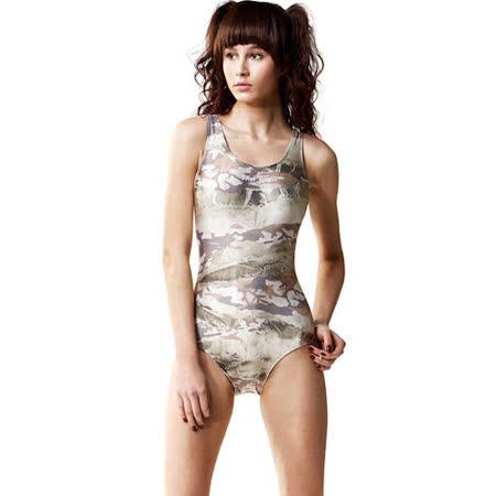 【SAIN SOU】競賽/泳隊/專業用大女連身三角泳裝加贈矽膠泳帽7042