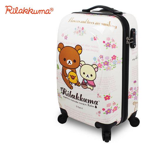 ~Rilakkuma拉拉熊~魔幻花園 20吋PC超輕量硬殼行李箱^(野餐小熊^)