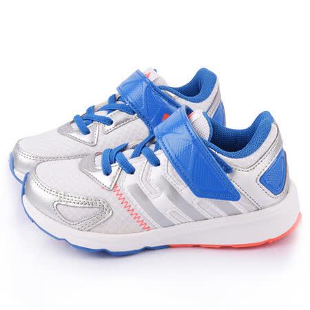 Adidas 中大童 魔鬼氈輕量運動跑鞋M29568-藍白