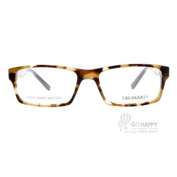 TRUSSARDI光學眼鏡 時尚經典款(琥珀) #TR12756 DB