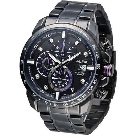 雅柏 ALBA SignA 重機型男時尚計時腕錶 VK67-X007SD AV6037X1