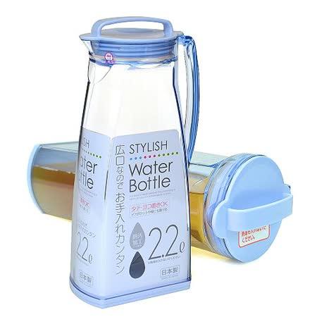 【促銷】日本製造OSK可倒放2200cc非玻璃冷水壺(粉藍色)