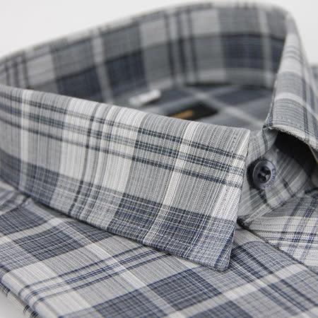 【金安德森】經典格紋灰白窄版長袖襯衫