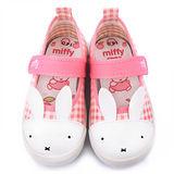 童鞋城堡-Miffy 中童 兔兔造型室內鞋MF-371-粉