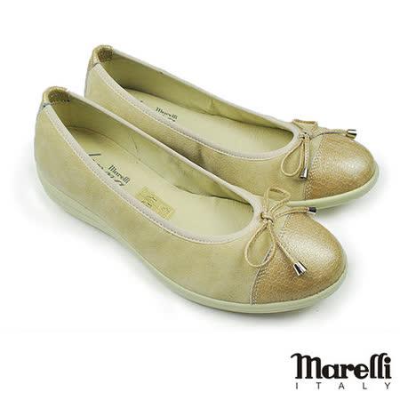 【marelli】Donna舒適漫走娃娃鞋 米色(12071-BES)