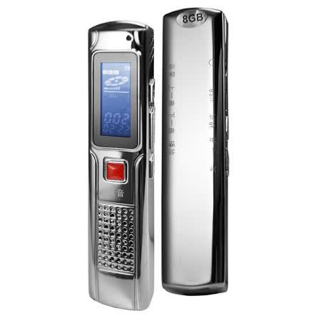 【K80】高品質MP3錄音筆 8GB(銀色)