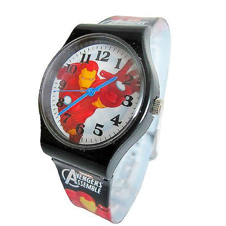 【漫威】MARVEL 鋼鐵人膠帶兒童錶卡通錶(黑)