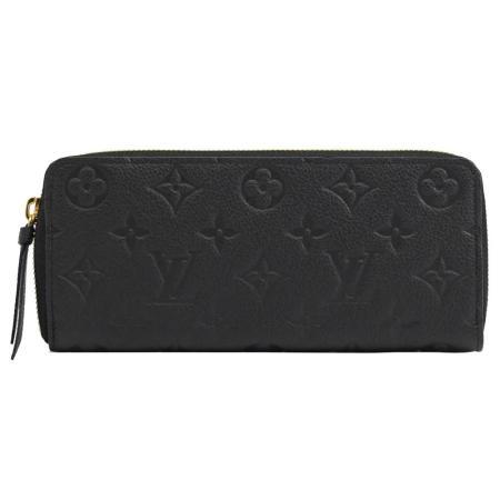 Louis Vuitton LV M60171 Clémence 經典花紋全皮革壓紋拉鍊長夾 現貨