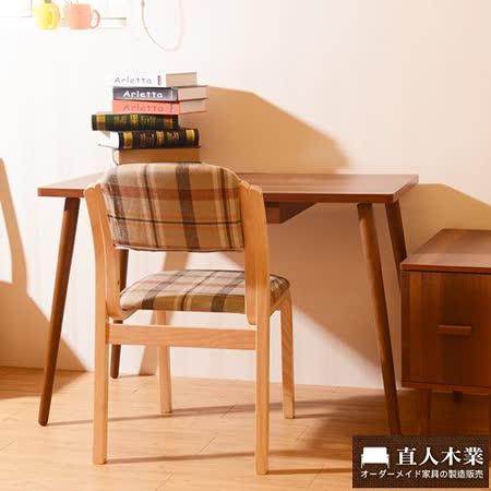 【日本直人木業】STYLE曲木椅+胡桃木色書桌組