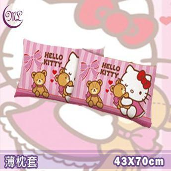 名流寢飾 Hello Kitty麻吉熊薄枕頭套 一入