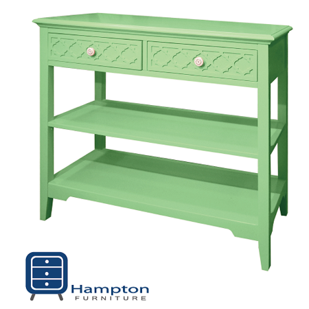 漢妮Hampton安琪拉二抽玄關桌-粉綠
