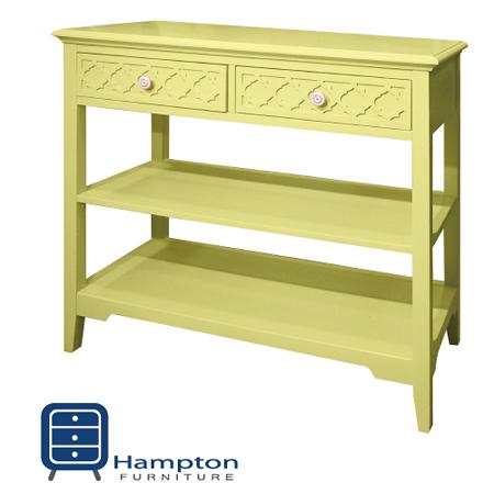 漢妮Hampton安琪拉二抽玄關桌-粉黃