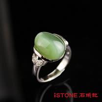 石頭記 貓眼925純銀戒指-氣質珍藏