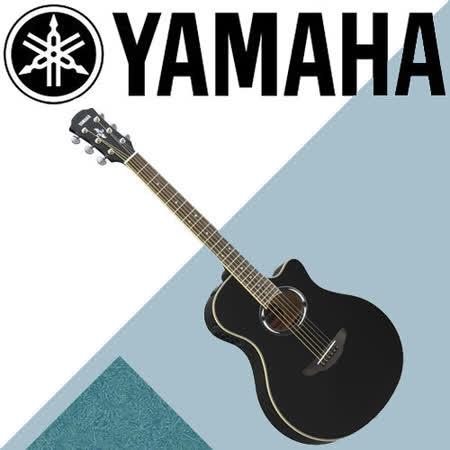 【YAMAHA 山葉】專為喜好輕薄桶身設計的電木民謠吉他-公司貨保固 (APX500BK)
