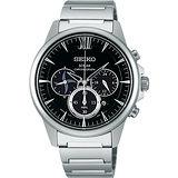 SEIKO SPIRIT 忍者精神三眼太陽能腕錶(黑/40mm ) V175-0AV0D