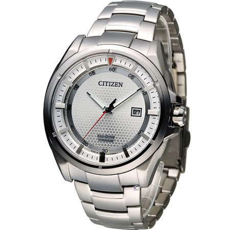 星辰 CITIZEN 科技領袖【鈦】時尚腕錶 AW1401-50A 白