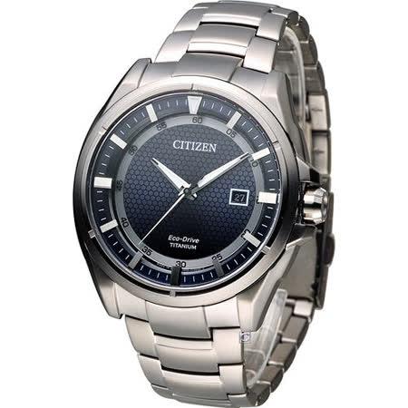 星辰 CITIZEN 科技領袖【鈦】時尚腕錶 AW1401-50L 藍