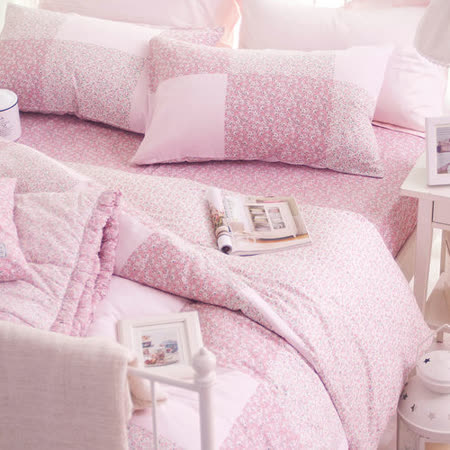 OLIVIA 《愛蜜莉》 特大雙人兩用被套床包四件組