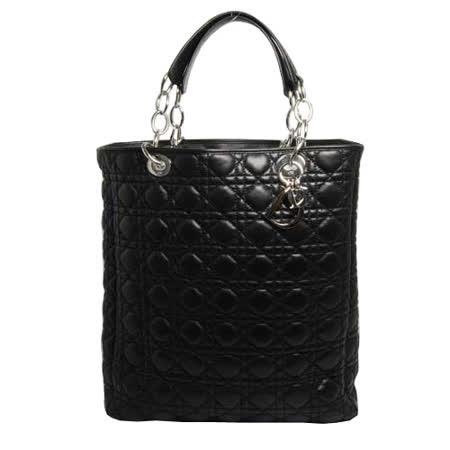 【好物分享】gohappy快樂購物網Christian Dior 經典菱格設計直立式鏈袋手提包_黑色評價怎樣寶 慶 遠 百 週年 慶