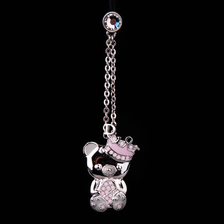 Christian Dior 甜美可愛造型小熊手機吊飾_粉紅色