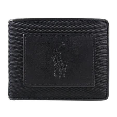 【網購】gohappy線上購物POLO Ralph Lauren 酷炫馬刻紋橫式3卡短夾(黑)好用嗎阪急 百貨
