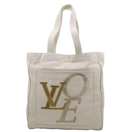 【好物推薦】gohappy 購物網LV 【M95388】限量塗鴉字母帆布購物包評價高雄 漢 神 百貨 公司