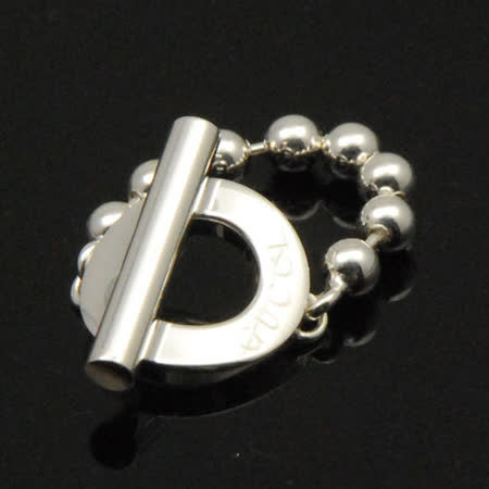 GUCCI珠鍊造型戒指(戒圍12號)【silver925】