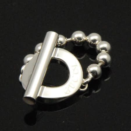 GUCCI珠鍊造型戒指(戒圍15號)【silver925】
