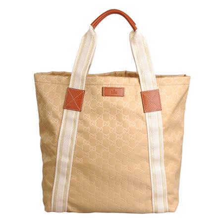 GUCCI 經典織帶系列直立式購物包(米)
