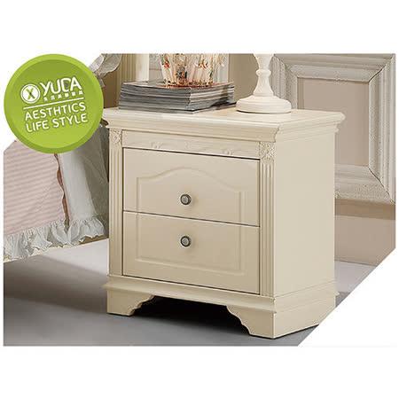 【YUDA】公主專屬 BG902 古典象牙白純白色烤漆 床頭櫃/床邊櫃 鄉村田園家具