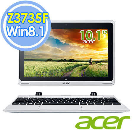 Acer 宏碁 Switch 10 64GB Win8.1 10.1吋 Z3735F四核心變形平板筆電【附Office 365】( SW5-012-15H8 )-加贈家樂福禮卷$200