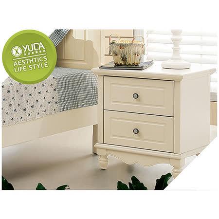 【YUDA】公主專屬 BG800  古典象牙白純白色烤漆 床頭櫃/床邊櫃  鄉村田園家具