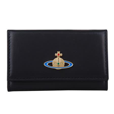 【好物分享】gohappy快樂購物網Vivienne Westwood 星球LOGO素面鑰匙包(黑)價格高雄 sogo 地址