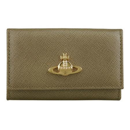 【好物分享】gohappyVivienne Westwood 星球LOGO素面鑰匙包(金)去哪買台中 金 愛 買
