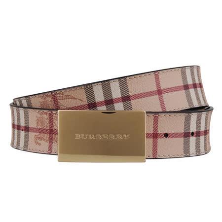 BURBERRY 經典格紋系列金牌皮帶(米/95/100CM)