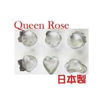 日本霜鳥Queen Rose不銹鋼花型餅乾模(6入)