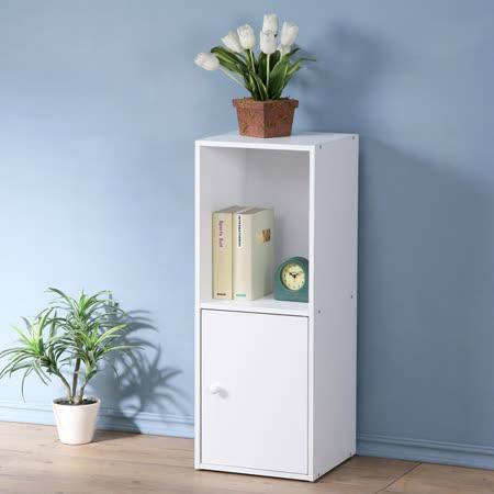 《Homelike》現代風二格單門置物櫃(三色)