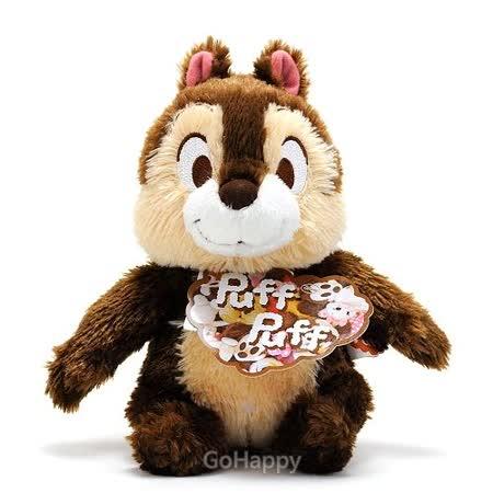 日本進口Disney【大眼奇奇】坐姿絨毛玩偶