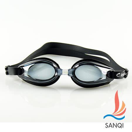 【SANQI三奇】夏日抗UV防霧休閒度數泳鏡(81000-共2色)