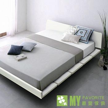 都會風情4尺單人加大床架(白色/白橡色/黑胡桃色)+3.5尺床墊