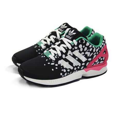 (女)ADIDAS ZX FLUX W 休閒鞋 黑/綠/桃紅-M19455