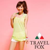 【TRAVELFOX 旅狐】背心式外搭罩衫C14712-F
