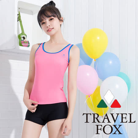【TRAVELFOX 旅狐】粉彩簡約風二件式泳衣C15706