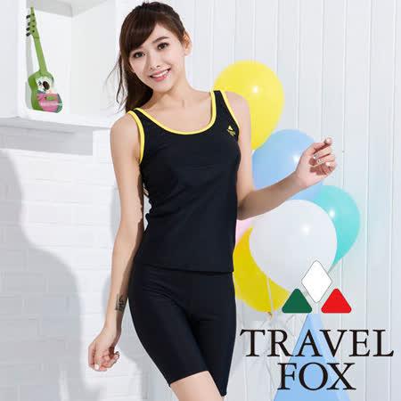 【TRAVELFOX 旅狐】素面簡約風二件式泳衣C15707