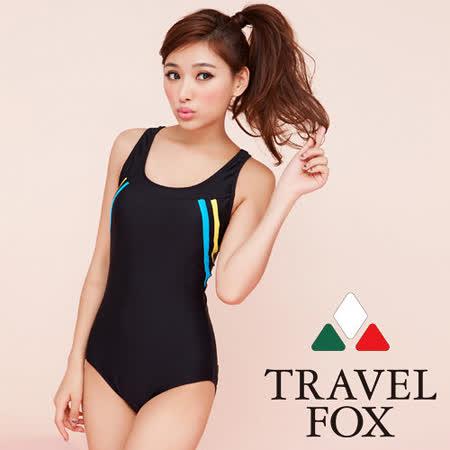【TRAVELFOX 旅狐】運動風連身三角泳衣C13706