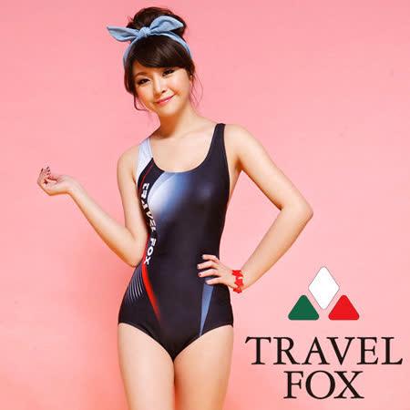 【TRAVELFOX 旅狐】競泳連身三角泳衣C14708