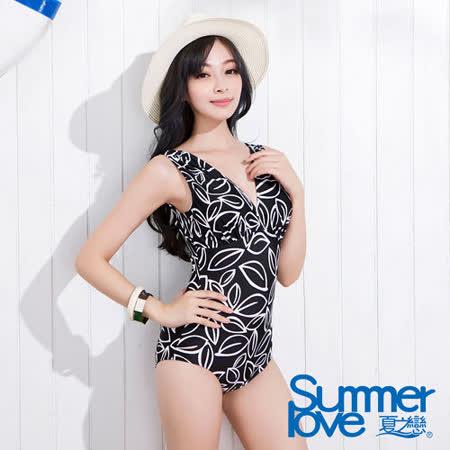 【SUMMERLOVE 夏之戀】超顯瘦連身三角泳衣S15705
