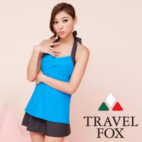 【TRAVELFOX 旅狐】休閒款長版三件式泳衣C14724