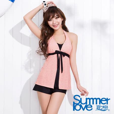 【SUMMERLOVE 夏之戀】春之風情長版三件式泳衣S15712