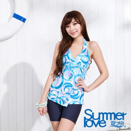 【SUMMERLOVE 夏之戀】藍海風情長版二件式泳衣S15710